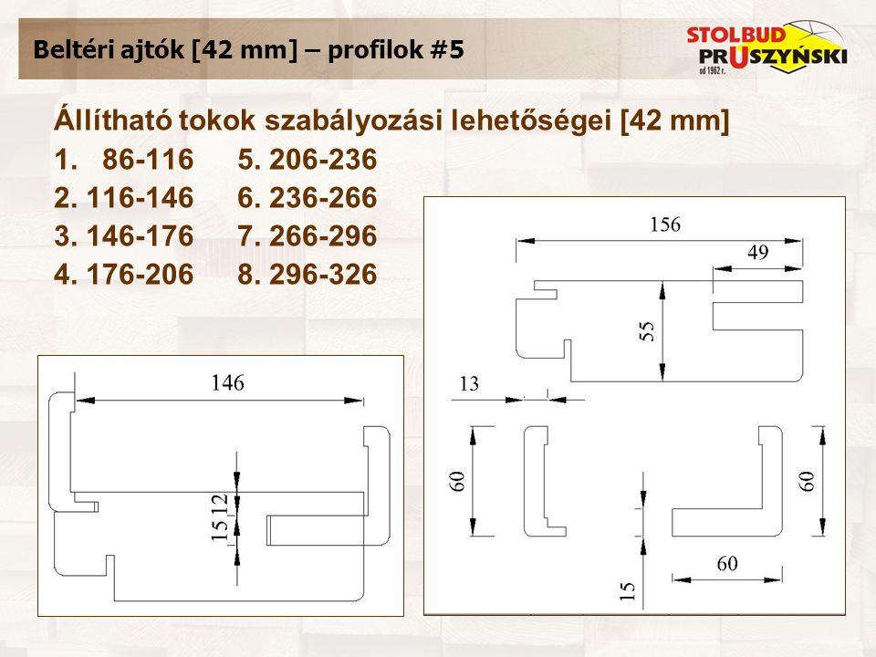 Beltéri ajtók [42 mm] – profilok #5